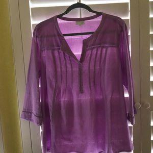 J. Jill purple shirt size M